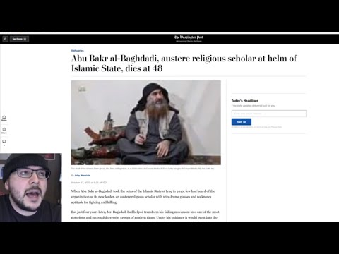 Media Calls Baghdadi AUSTERE SCHOLAR??! Trump Derangement Syndrome On OVERDRIVE