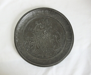 Antique Child's ABC Tin Plate Hi Diddle Diddle