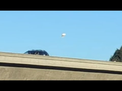 UFO Caught Hovering Over A San Diego Freeway During The Morning Rush Hour. October 22, 2019