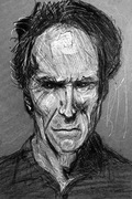 Clint Eastwood traditional sketch