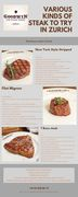 Various Kinds of Steak to Try in Zurich