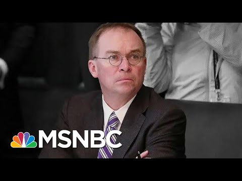 Impeachment Evidence Mic Mulvaney involved in Bribery PlotMSNBC Ari Melber