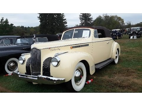 3 American Luxury Cars Of 1941 Cadillac Series 63, Lincoln Continental Cabriolet Packard Super Eight