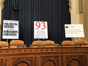 Republican props set up for hearing
