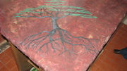 Concrete counter top with tree of life