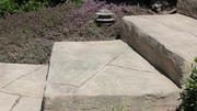 Carved steps after
