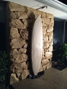 Outdoor shower for surfers that like to rock