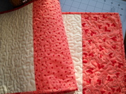 Valentine Hearts and Bars Table Runner (back)