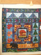 Cabin In The Woods Large Wall Hanging-