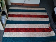 Christmas quilt back