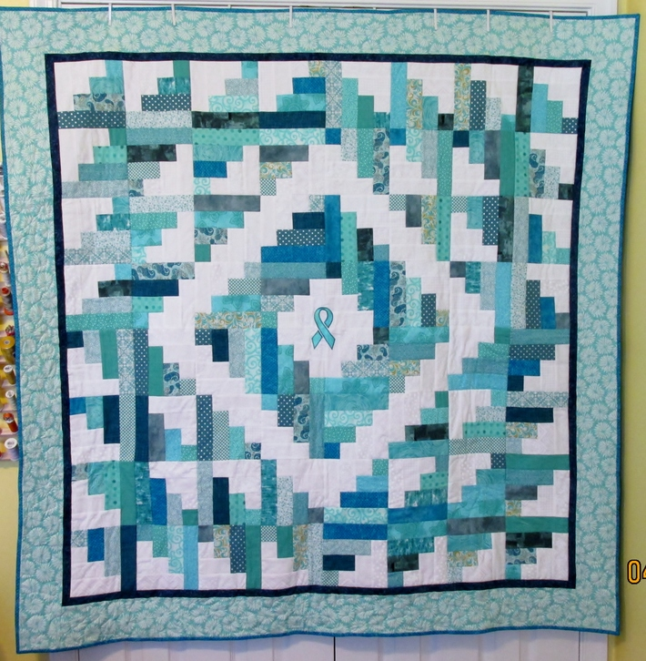 Teal Ribbon quilt
