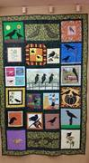 Crow Quilt made by Coshocton Canal Quilters to benefit Pomerene Fine Arts Center.