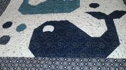 Whale quilt - quilting