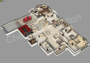 3D Floor Plan Visualization