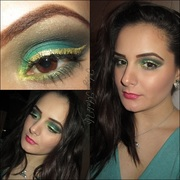 Holiday MakeUp #2: Green & Gold Sparkles