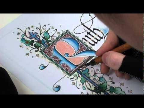 韓玉青老師上課示範-(中世紀風格)文字造型設計搭配古典藝術插畫A.MPG