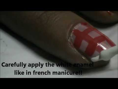 Pink Check Nails- easy nail design for beginners- easy nail design for short nails