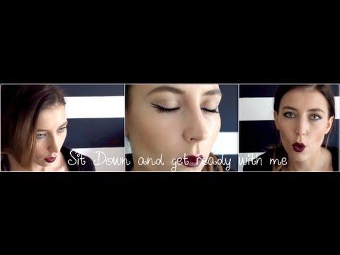 Sit down & GRWM eyeliner dark lip