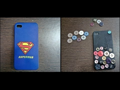 DIY Phone Case Decoration using Buttons