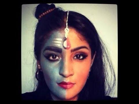 Indian Mythology-Shiv Ardhnarishwar inspired makeup tutorial
