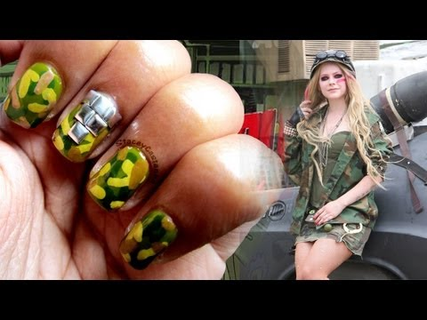 Avril Lavigne Rock n Roll official music video inspired NAILS   Tutorial