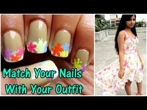 Match your nails with your outfit   Dresslink
