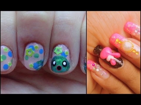 kawaii Nail Collob With LalaPinkGreenNails