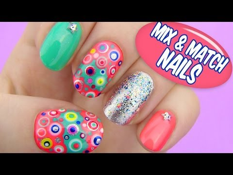 Mix and Match Nails - Dotted Nail Art