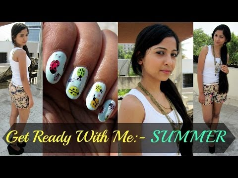 Get Ready With Me : Makeup, Nails, Hair and Outfit.
