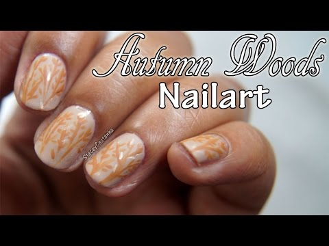 NAILART for Fall | Delicate Autumn Woods