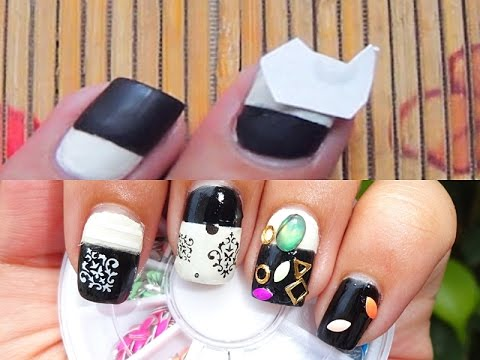 Nail Hack: Water Decals + Damask Print Nails