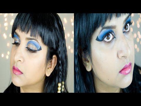 Halloween Cleopatra Makeup Tutorial  (2016) || DenDiva