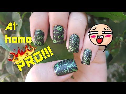 Easiest Halloween Nail Art Stamping Tutorial 2017