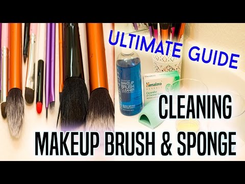 ULTIMATE GUIDE - Cleaning Makeup Brushes & Sponges at Home || DenDiva