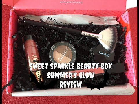 SWEET SPARKLE BEAUTY BOX | SUMMER'S GLOW | REVIEW