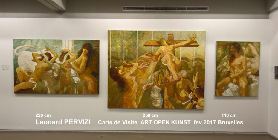 Leonard PERVIZI Art Open Kunst fev.2017 Bruxelles