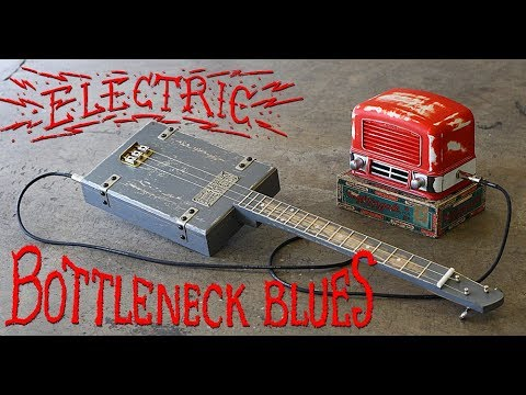 Battleship Blues - Electric 3 String Cigar Box Guitar