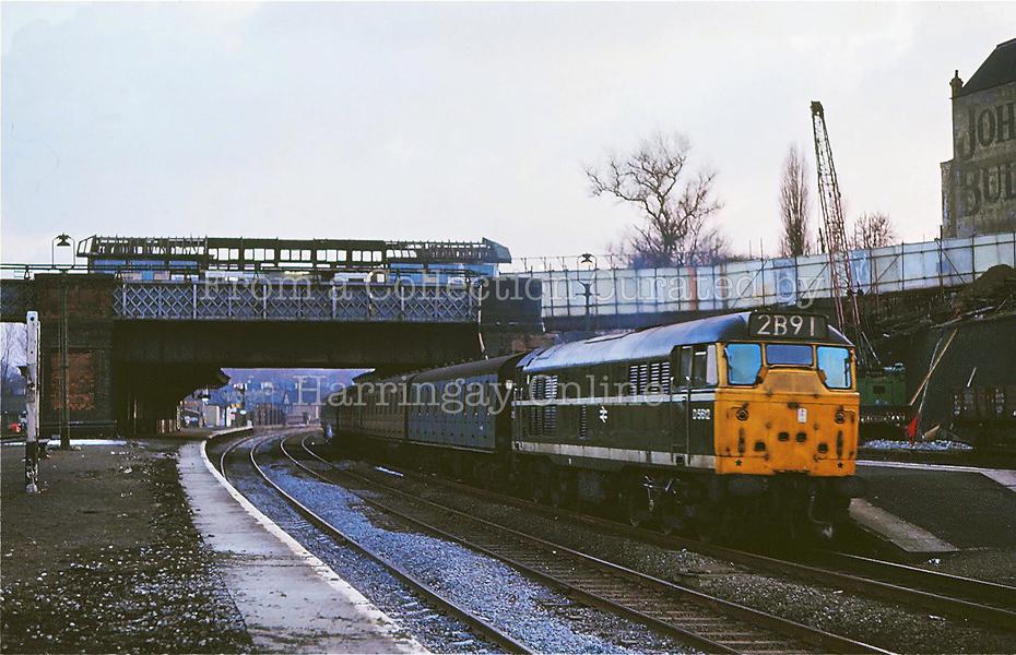 Harringay West Station, February 1969