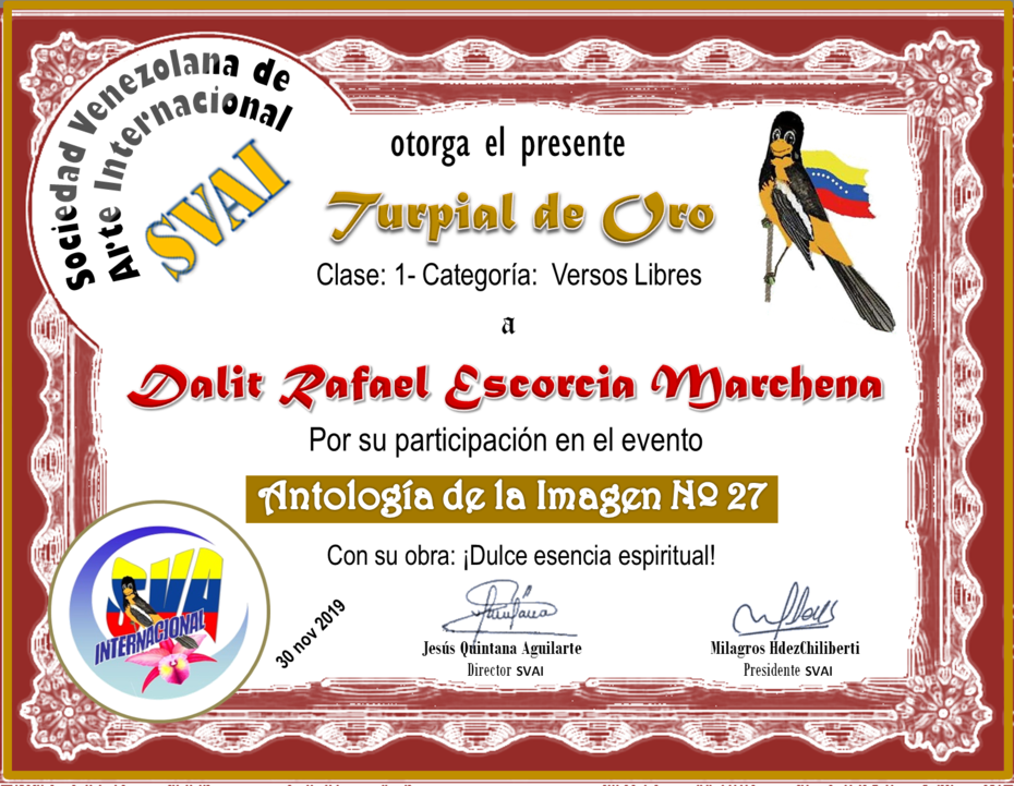 DALIT RAFAEL ESCORCIA MARCHENA-Mención de Honor.