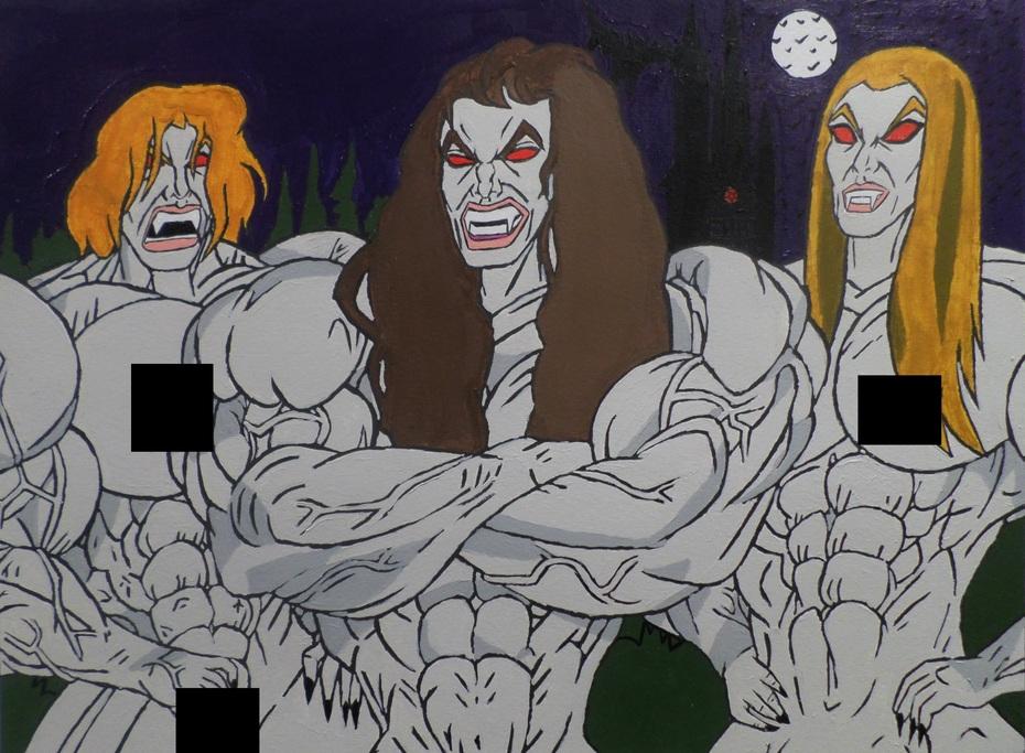 Ultra Bio Muscle Were-Vamp Monster Girls (Censored)