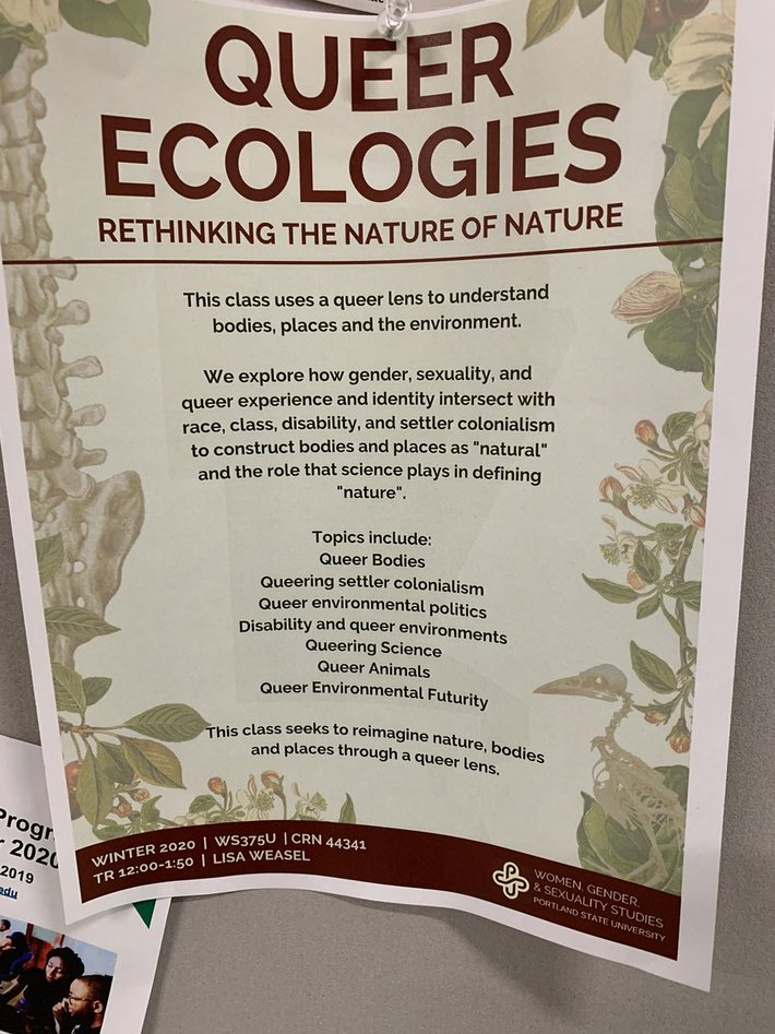 Portland State University offers 'queer ecologies' class