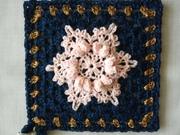a pink snowflake