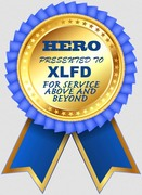 HERO AWARD FOR XLFD'S MANY YEARS OF SERVICE TO THE COMMUNITY