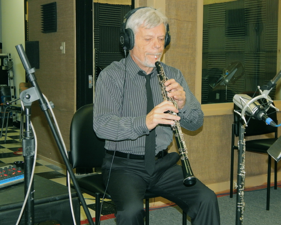 Playing Oboe and English Horn in a session!