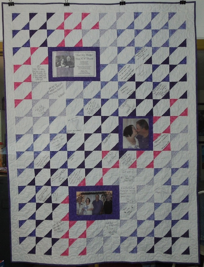 Guestbook Wedding quilt - finished