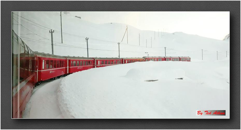 Με το τρένο Bernina Express...