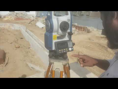 HOW TO DO LAYOUT OF A BUILDING WITH CO-ORDINATE & TOTAL STATION IN ENGLISH,SOKKIA CX105