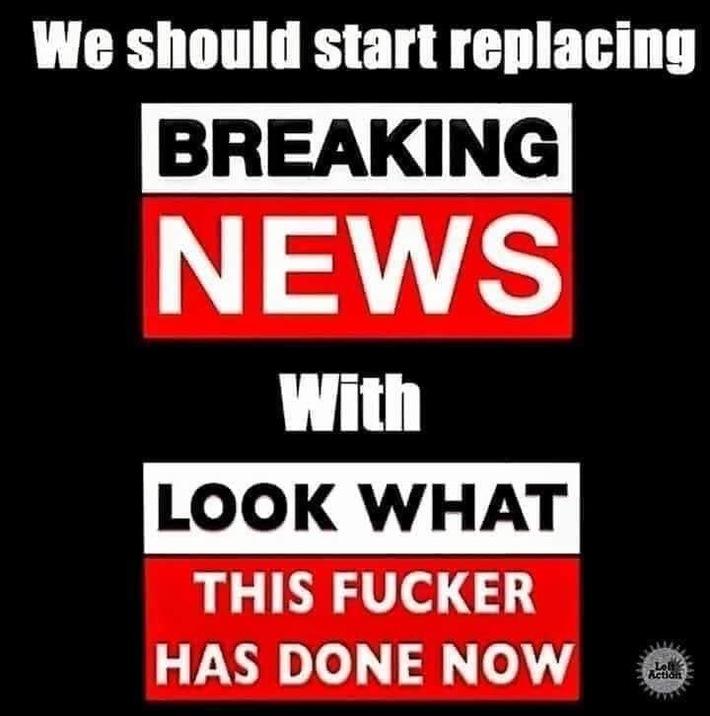 Breaking news lol