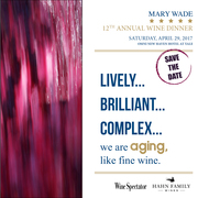 12th Annual Mary Wade Wine Dinner