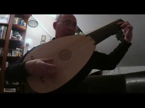 Corant of Mr Gaultier from the Burwell Lute Tutor (approx. 1670)